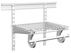 Wire adjustable mount shelving & hardware