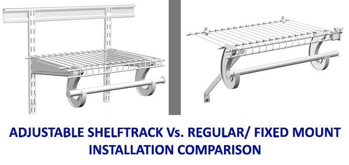 Comparing Regular Fix / Fixed Mount Installation U0026 Adjustable/ ShelfTrack  Installation