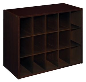 8929 - ClosetMaid Stacker 15 Cube Espresso Laminate Organiser