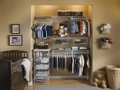 Nursery childrens adjustable wardrobe system for Childrens closet