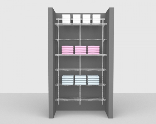 Adjustable Bathroom Package 3 - ShelfTrack with SuperSlide shelving up to 1,22m/ 4' wide