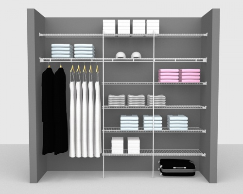 Fixed Mount Package 4 - Linen shelving up to 2,44m/ 8' wide