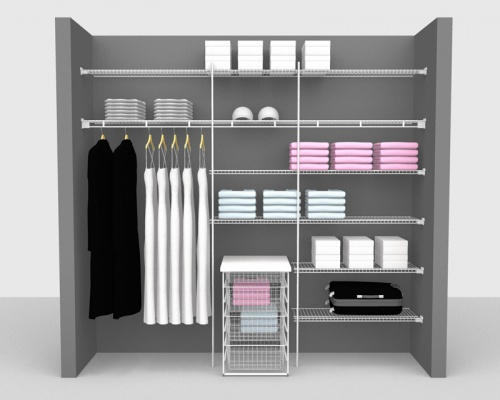 Fixed Mount Package 5 - Linen shelving up to 2,44m/ 8' wide