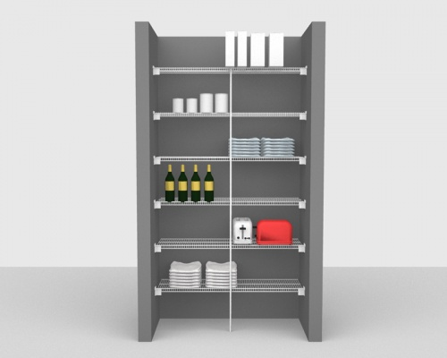 Fixed Mount Package 1 - CloseMesh shelving up to 1,22m/ 4' wide