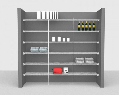 Fixed Mount Package 1 - CloseMesh shelving up to 2,44m/ 8' wide