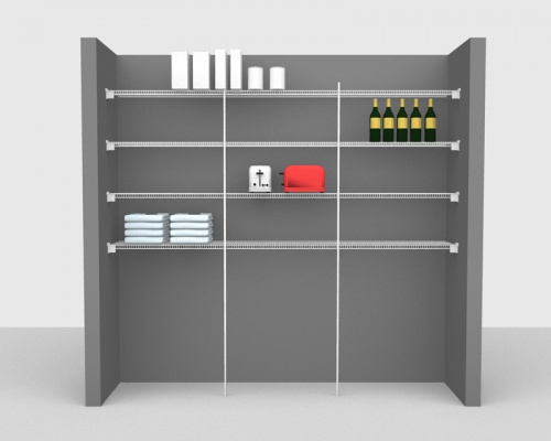 Fixed Mount Package 3 - CloseMesh shelving up to 2,44m/ 8' wide