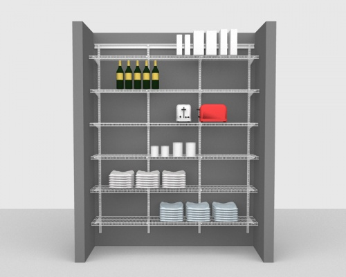 Adjustable Package 1 - ShelfTrack with CloseMesh shelving up to 1,83m/ 6' wide