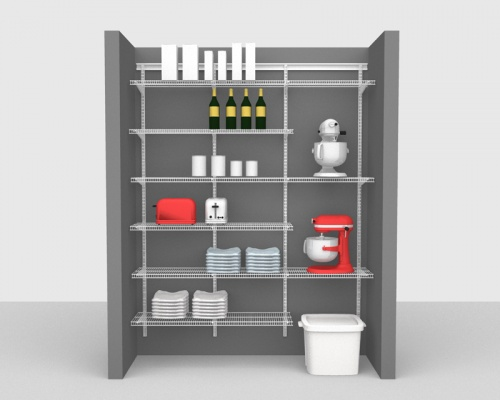 Adjustable Package 4 - ShelfTrack with CloseMesh shelving up to 1,83m/ 6' wide