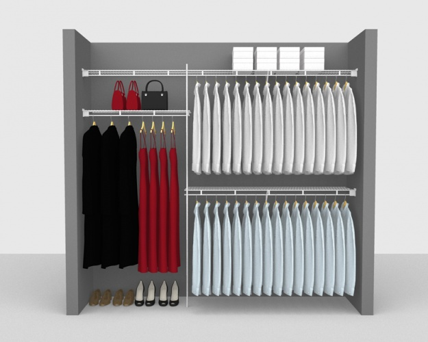Fixed Mount Package 1 - Shelf & Rod shelving up to 2,44m/ 8' wide