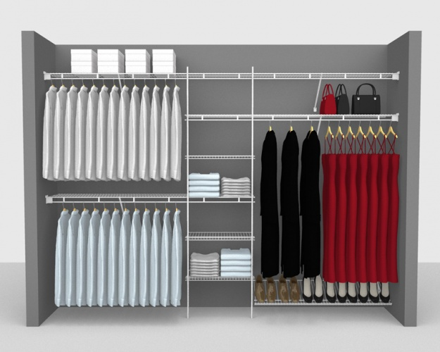 Fixed Mount Package 9 - Shelf & Rod shelving up to 3,05m/ 10' wide