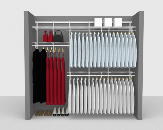 Adjustable Package 1 - ShelfTrack with SuperSlide shelving up to 2,44m/ 8' wide