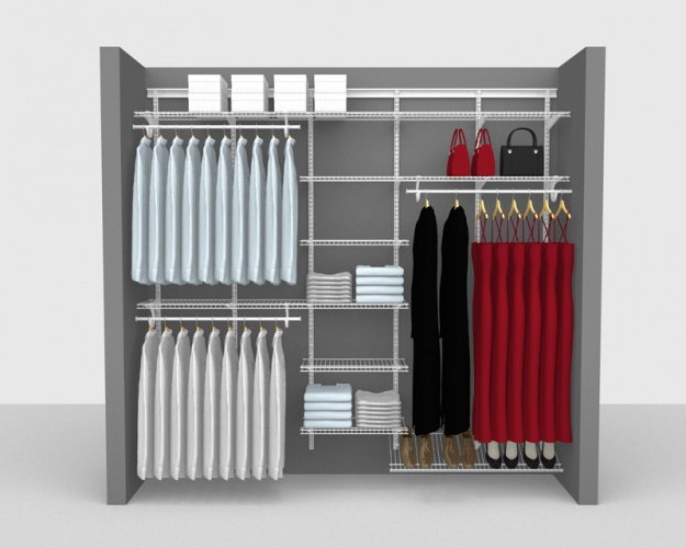 Adjustable Package 9 - ShelfTrack with SuperSlide shelving up to 2,44m/ 8' wide