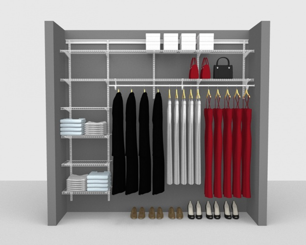 Adjustable Package 3 - ShelfTrack with SuperSlide shelving up to 2,44m/ 8' wide