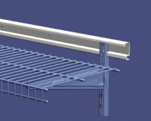 ShelfTrack Horizontal Hang Track from