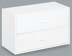8984 - ClosetMaid 2 Drawer Laminate Stackable Organiser White