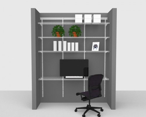 Adjustable Office Package 2 - ShelfTrack with Linen shelving up to 1,83m/ 6' wide