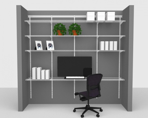 Adjustable Office Package 2 - ShelfTrack with Linen shelving up to 2,44m/ 8' wide
