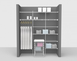 Fixed Mount Bathroom Package 2 - Shelf & Rod shelving up to 1,83m/ 6' wide