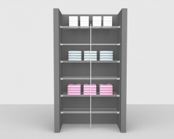Fixed Mount Bathroom Package 3 - Linen shelving up to 1,22m/ 4' wide
