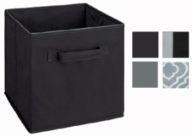 Cubeicals Black/ Grey Fabric Drawers