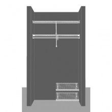 Cloakroom Layout 2, 1.22m / 4' wide