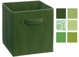 Cubeicals Green Fabric Drawers
