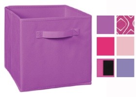 Cubeicals Pink/ Purple Fabric Drawers