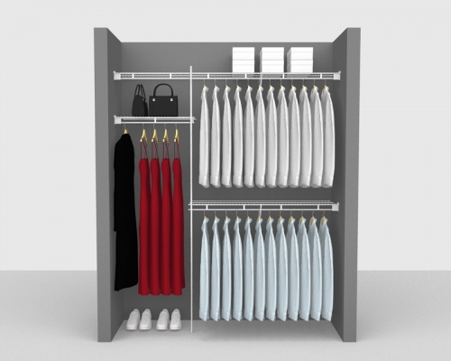 Fixed Mount Package 1 - Shelf & Rod shelving up to 1,83m/ 6' wide