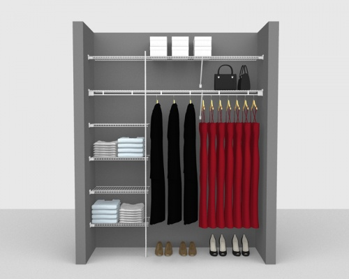 Fixed Mount Package 3 - Shelf & Rod shelving up to 1,83m/ 6' wide