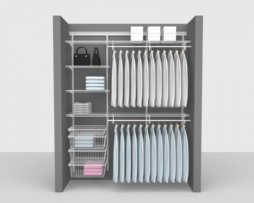 Adjustable Package 4 - ShelfTrack with SuperSlide shelving up to 1,83m/ 6' wide