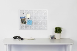 Trigon Bulletin Board - White