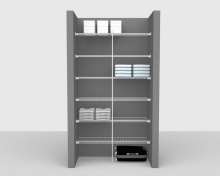 Fixed Mount Package 1 - Linen shelving up to 1,22m/ 4' wide