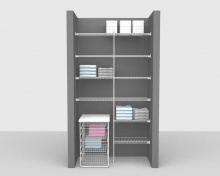 Fixed Mount Package 3 - Linen shelving up to 1,22m/ 4' wide
