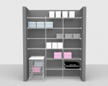 Fixed Mount Package 3 - Linen shelving up to 1,83m/ 6' wide