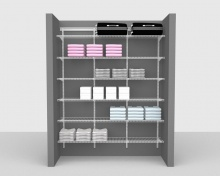 Adjustable Package 1 - ShelfTrack with Linen shelving up to 1,83m/ 6' wide