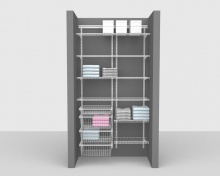 Adjustable Package 3 - ShelfTrack with Linen shelving up to 1,22m/ 4' wide