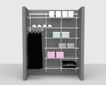 Adjustable Package 4 - ShelfTrack with Linen shelving up to 1,83m/ 6' wide