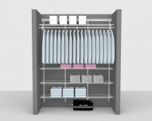 Adjustable Package 6 - ShelfTrack with Linen shelving up to 1,83m/ 6' wide