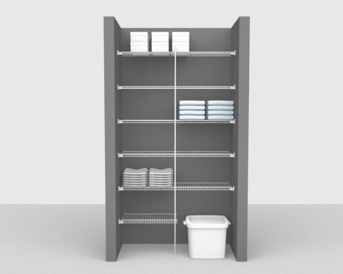 Fixed Mount Package 2 - Linen shelving up to 1,22m/ 4' wide