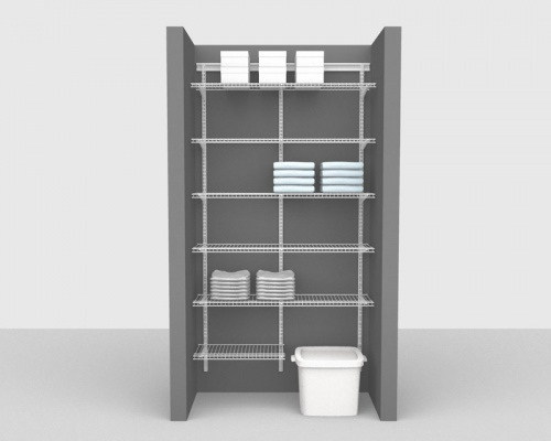Adjustable Package 2 - ShelfTrack with Linen shelving up to 1,22m/ 4' wide