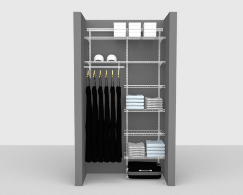 Adjustable Package 4 - ShelfTrack with Linen shelving up to 1,22m/ 4' wide