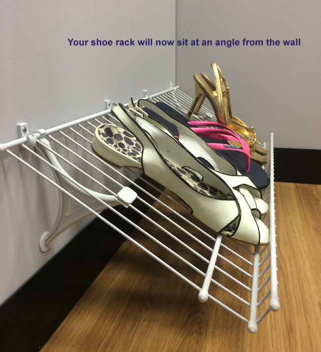 Closetmaid Shoe Rack Installation