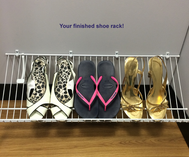 Amazing How To Install A Shoe Rack