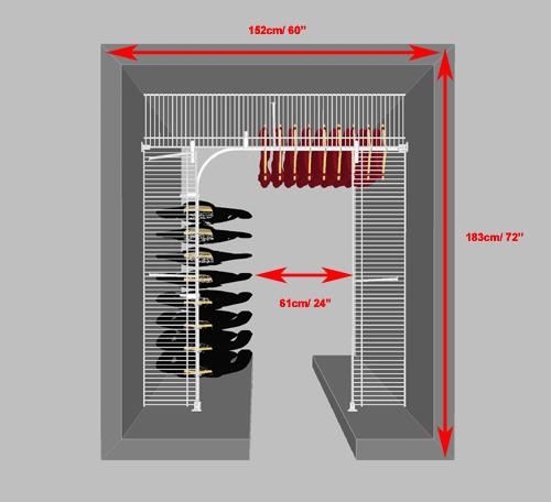 Minimum Width Walk In Closet Door Image Of Bathroom And Closet