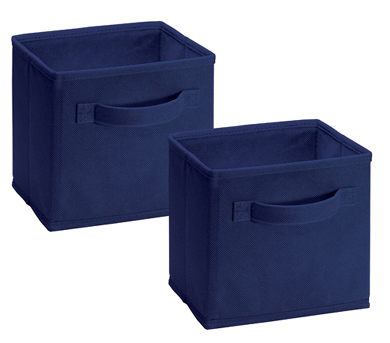 1577 - 2 Pack Mini Fabric Drawers Blue