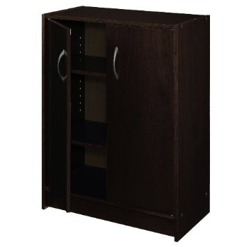 8925 - ClosetMaid 2 Door Laminate Stackable Organiser Espresso