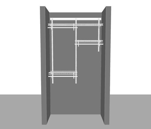 Adjustable Reach in Closet Package 1