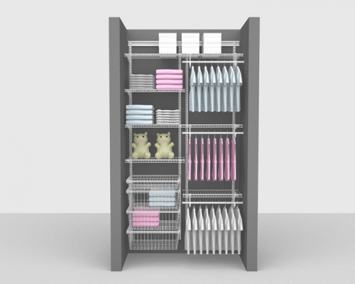 Adjustable Kids Package 3 - ShelfTrack with SuperSlide shelving up to 1,22m/ 4' wide