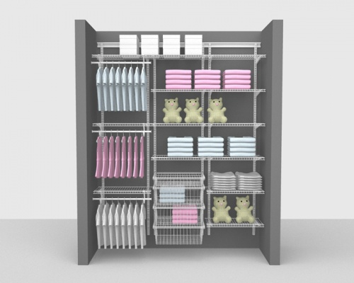 Adjustable Kids Package 6 - ShelfTrack with SuperSlide shelving up to 1,83m/ 6' wide