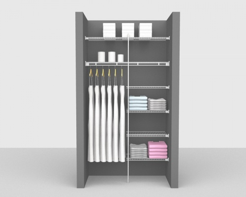 Fixed Mount Bathroom Package 1 - Shelf & Rod shelving up to 1,22m/ 4' wide